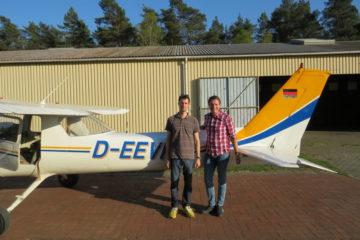 Erster Alleinflug Andreas Kluth